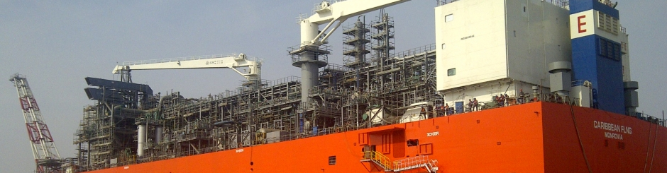 FLNG exmar Tango YPF gas liquefaction liquefy offshore barge small stranded field